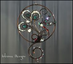 DRAGONFLY SUNCATCHER with loads of by IntrinsicDesignsArt on Etsy