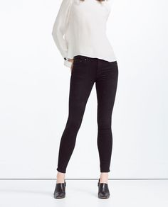 ZARA - WOMAN - SKINNY MID-RISE SOFT TOUCH JEANS