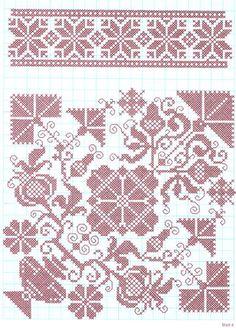 German embroidery  Kreuzstichmuster im Jahreslauf von Josefine Brogyanyi