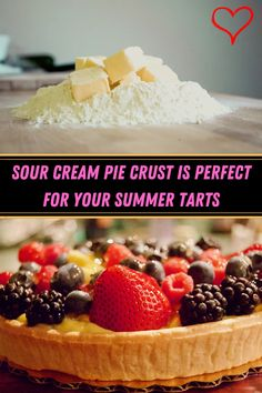 #Sour #Cream #Pie #Crust #Perfect #Summer #Tarts Great Desserts, Summer Desserts, Cream Pie, Sour Cream, Pie Crust From Scratch, How To Make Pie, Viral Trend, Almond Nails, Acrylic Nail Designs