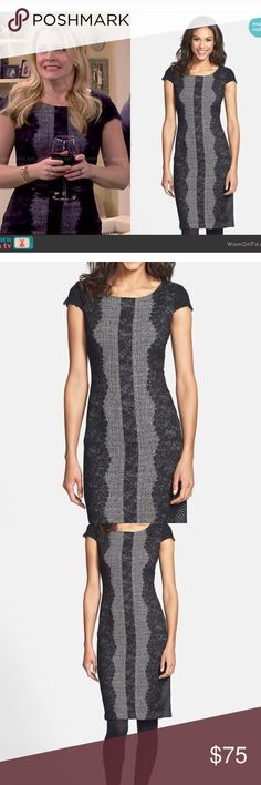Betsey Johnson Lace Trim Tweed Sheath Dress Excellent condition like new size 4 Betsey Johnson Dresses