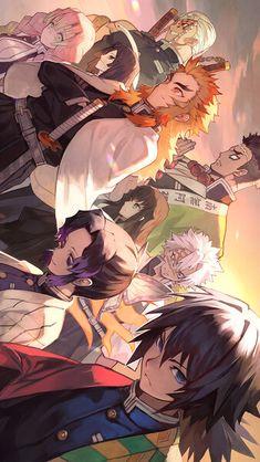 Demon Slayer (Kimetsu no Yaiba) Manga Anime, Me Anime, Anime Demon, Otaku Anime, Anime Love, Manga Art, Anime Guys, Anime Art, Male Manga