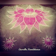 """A simple lotus rangoli.. . . For more such arts.. visit my YouTube channel """"Brindhavan-An Art Garden"""" (Link in bio) If you like my videos.. Like ❤️. Share  Subscribe ️ . . . .  #painting #paintingart #art #design #drawing #sketch  #pullikolam #kolam #rangoli #flowers #floral#lotus #lotuses"""