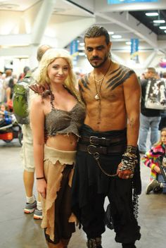 Daenerys targaryen and khal drogo khaleesi cosplay game of thrones sdcc by Marianne Fredericks. www.Facebook.com/maritattoos