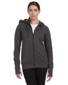 Alo Sport Ladies' Performance Fleece Full W4010 Dk grey heather