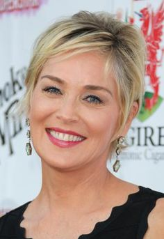 20 Gorgeous Short Haircuts for Women Over 50: Side-swept Bangs