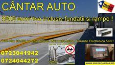 Cantar auto nou 60t-80t cu platforma de14-15-16-18m mixt metal-beton. 8.500 euro+tva (complet in regie proprie). Peste 2.000 de cantare instalate din anul 2006. Euro