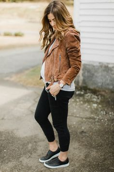Life and style blogger Lauren McBride shares her tips on How to Style Jogger Pants for Fall including outfit ideas and styling tips.