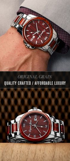"""(Use code """"VDAY10"""" to get 10% off sitewide and free shipping while supplies last!) Looking for the perfect gift? Our watches are handcrafted, forged from exotic wood & steel. Fresh style and craftsmanship that lasts a lifetime! Free shipping worldwide!"""