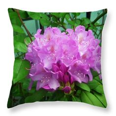 "Light Purple Rhododendron Throw Pillow for Sale by Aimee L Maher Photography and Art Visit ALMGallerydotcom. Our throw pillows are made from 100% spun polyester poplin fabric and add a stylish statement to any room. Pillows are available in sizes from 14""x14"" up to 26""x26"". Each pillow is printed on both sides (same image) and includes a concealed zipper and removable insert (if selected) for easy cleaning. Ships within 2-3 business days"