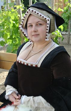 "My new Henrician (""Tudor"") gown with Gable hood."