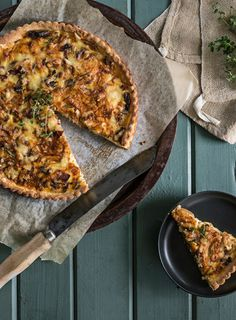 Filled with sweet onions and gruyere cheese, this tart makes a delicious lunch with a salad on the side.