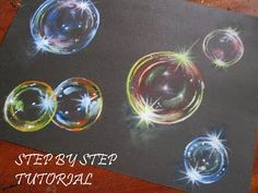 (6) How to paint realistic bubbles || step by step narrated tutorial - YouTube