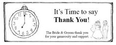Print out this candy bar wrapper on colored paper as a yummy thank you or party gift for the 'Around the Clock' bridal shower.