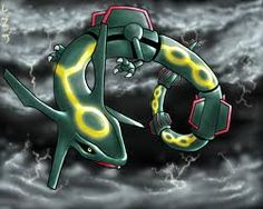Rayquaza! A legendary Pokemon. (and my favorite pokemon)