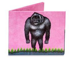 Grrrrrrr! This original illustration of Ingrid Mourreau has a dream like appeal that is tinged with a feeling of suspense. A collaboration of husband and wife for the Gorilla Mighty Wallet. $15.00