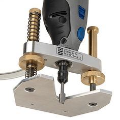 Turn dremel into an accurate mini router Precision Router Base | stewmac.com