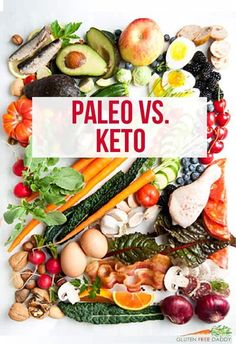 """Want to learn about Paleo and If I had to write about Paleo vs in 6 words or less. I would say that is Paleo without the sugar"""". Paleo Pizza, Paleo Vs Keto, Paleo Food List, Paleo Tacos, Best Paleo Recipes, Paleo Meal Prep, Whole 30 Recipes, Food Lists, Paleo Meals"""