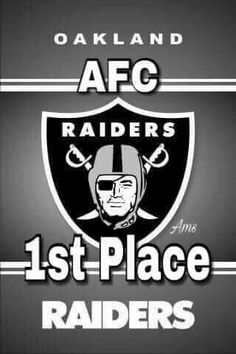 Oakland Raiders 1st Place in the AFC