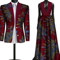 2018 Fashion Sweet Couple Clothing Flowers Men& Suits & African Print Dresses for Women Bazin Riche Lovers Couple Clothes - Couples African Outfits, Couple Outfits, African Attire, African Wear, African Dress, Couple Clothes, African Wedding Attire, African Style, African American Fashion