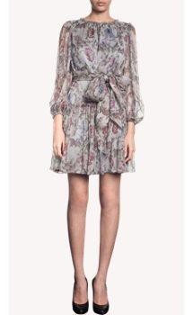 Dolce & Gabbana Tapestry Print Waist Tie Dress