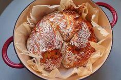 Σπιτικό Ψωμί χωρίς Ζύμωμα No Knead Bread, French Toast, Chicken, Meat, Breakfast, Ethnic Recipes, Food, Decor, Morning Coffee
