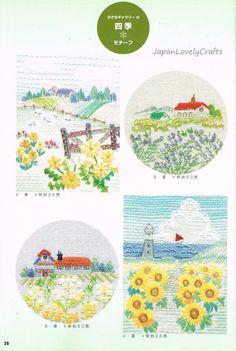 Country Scenes Sadako Totsuka Hand by JapanLovelyCrafts on Etsy
