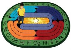 child's labyrinth - I would LOVE to eventually have this carpet in a Sunday School room!