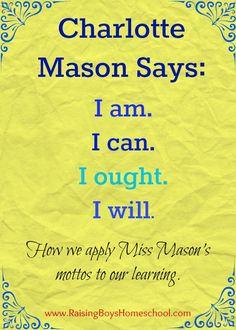 Favorite Charlotte Mason Mottos