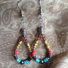 Southwest inspired earrings by MomentsofChaos on Etsy