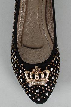 SK0301HZ Embellished Crown Ballet Flat $17.80