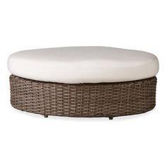 Lloyd Flanders Largo Ottoman with Cushion Fabric: Spectrum Kiwi, Sunbrella
