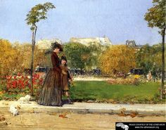 In the Park, Paris  Frederick Childe Hassam
