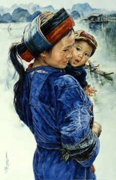 Mother And Child -Wai Ming (1938, Chinese)