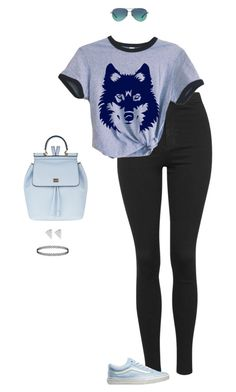 """""""With The Wolves"""" by hanakdudley ❤ liked on Polyvore featuring Topshop, Vans, Dolce&Gabbana, Tiffany & Co., women's clothing, women, female, woman, misses and juniors"""