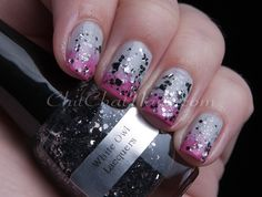 """White Owl Lacquers """"Moony"""" #nails #gradient #indiepolish"""