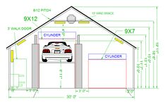 Garage Plans With Lift - Did you know that Garage Plans With Lift is most likely the most popular topics in this category? That's the reason we are pr. Garage Apartment Floor Plans, 2 Car Garage Plans, Garage Lift, Garage Plans With Loft, Loft Floor Plans, Pole Barn Garage, Garage Tool Storage, Carport Garage, Garage House