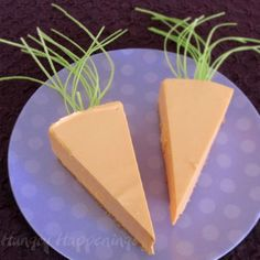 Cheesecake Carrots for Easter... super cute, right?
