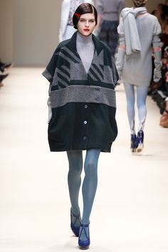 overcoat | Cacharel AW12 this would be so cute with black leggings!