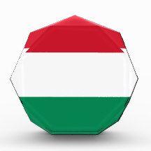 Flag of Hungary Acrylic Award flag, nation, banner, award, gift, acrylic, octagon, country, zazzle, smallbiz, ecommerce, dww25921