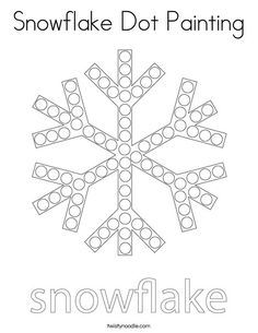Snowflake Dot Painting Coloring Page - Twisty Noodle Winter Activities For Kids, Winter Crafts For Kids, Spring Crafts, Snow Theme, Winter Theme, Preschool Lessons, Preschool Activities, Snowflake Coloring Pages, Painting Snowflakes
