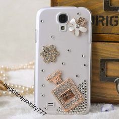 For Samsung Galaxy S4 case, Galaxy S4 cases - Beauty and Unique Perfume parfum flower diamond pattern Galaxy S4 cover, Samsung S4 cover