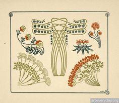 13 | Combinaisons ornementales - Альбом орнаментов в стиле Арт Нуво | ARTeveryday.org