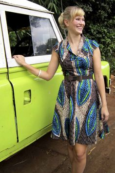 Njema Helena Debut Collection- Diane Dress #africa #kenya #kitenge