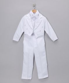 Take a look at this White Classic Tuxedo Set - Infant, Toddler & Boys by LA Sun on #zulily today!