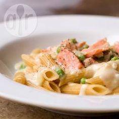 Romige pasta met gerookte zalm @ allrecipes.nl