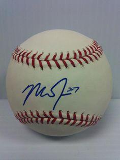 700273e67cb Mike Trout Autograph Baseball. Art S. Autographed Baseballs
