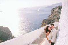 Planned by Stella and Moscha, this destination summer Greek wedding was elegant and classic, with white roses and gold, ivory and silver decor. Santorini Wedding, Romantic Destinations, Greek Wedding, Island Weddings, Greek Islands, Maltese, White Roses, Cliff Edge, Destination Wedding