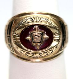 Authentic Josten 11.7gr of 10K Gold Ring 1973 BELIN HIGH, NEW MEXICO CLASS RING - SPECIAL  ***   COLLECTABLE   ***