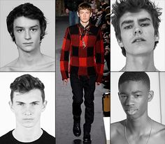 From London, Milan, Paris and New York, take a look at the new male model faces who stepped out onto the runway at Menswear Week Fall/Winter 2016-2017.